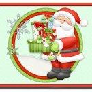Holiday Santa Design Indoor Room Doormat Mats Rug for Kitchen or Bedroom