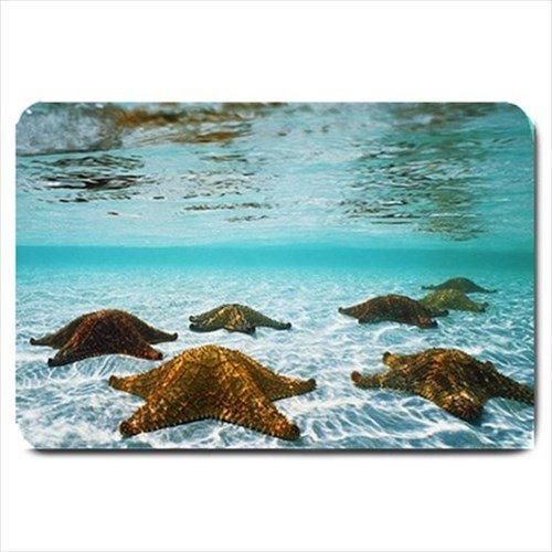 Underwater Starfish Design Indoor Doormat Mats Rug for the Bedroom or Bathroom