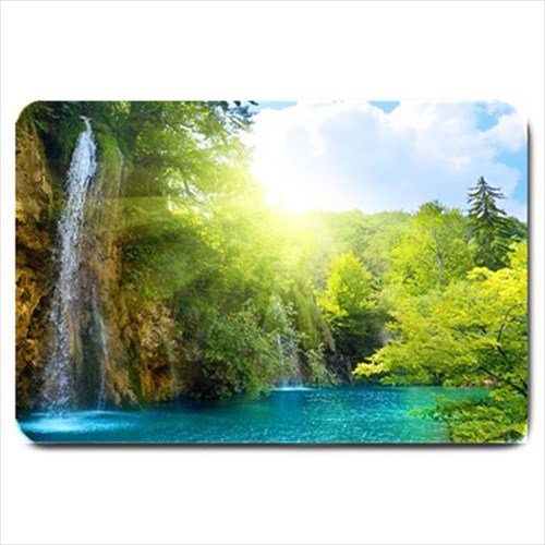 Waterfall Landscape Design Indoor Doormat Mats Rug for the Bedroom or Bathroom