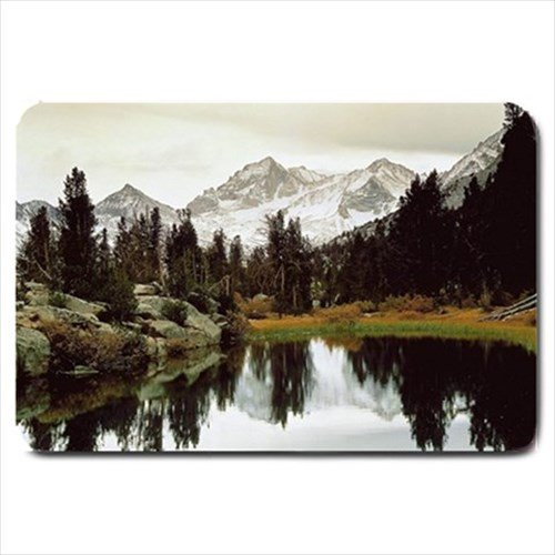 Mountain Lake Landscape Design Indoor Doormat Mats Rug for Bedroom or Bathroom
