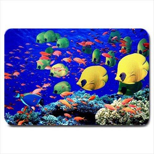 Ocean Tropical Fish Design Indoor Doormat Mats Rug for the Bedroom or Bathroom