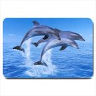 Swimming Dolphins Design Indoor Doormat Mats Rug for the Bedroom or Bathroom