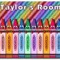 PERSONALIZED Crayon Design Indoor Room Doormat Mats Rug for Kid's Bedroom