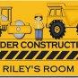 PERSONALIZED Construction Design Indoor Room Doormat Mats Rug