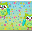 Cartoon Owls Design Indoor Room Doormat Mats Rug for Kitchen, Bath or Bedroom