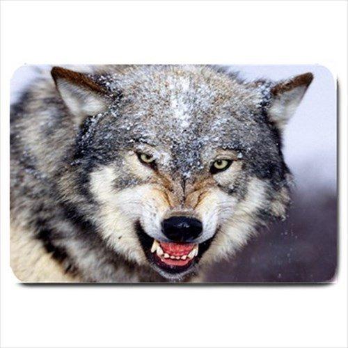 Wolf Design Indoor Doormat Mats Rug for the Bedroom or Bathroom