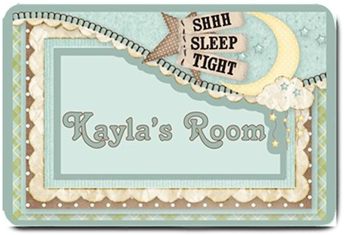 PERSONALIZED Baby Nursery Room Mats Rug