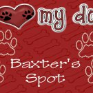 PERSONALIZED Dog Pet Feeding Mat or Sleep Rug