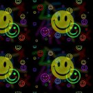 Retro Smiley Face Design Indoor Room Doormat Mat Rug in Hallway, Bedroom, Dorm