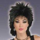 Rock Idol Black Spiked Wig