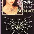 Gothic Silver Spiderweb Necklace
