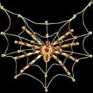 Gold Spiderweb Necklace with Ruby