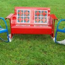 Vintage Metal Porch Glider Set