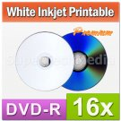 100 Pieces MaxTek Premium White Inkjet HUB Printable DVD-R DVDR 16x Blank Disc Media