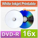 300 PK MaxTek White Inkjet HUB Printable DVD-R 16x Blank Disc For Data, Video & Movie