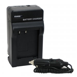Battery Charger Kit for Olympus LI-40B LI-42B Battery with Car Adapter,Replace LI-40C LI-41C Li-42C
