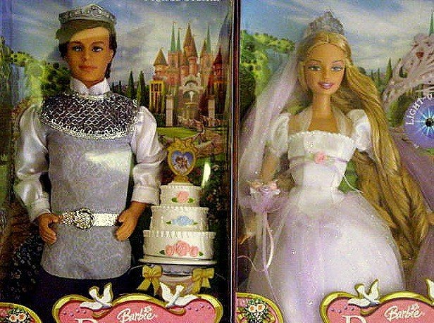 Rapunzel & Stefan Wedding Barbie Dolls New in Boxes!!