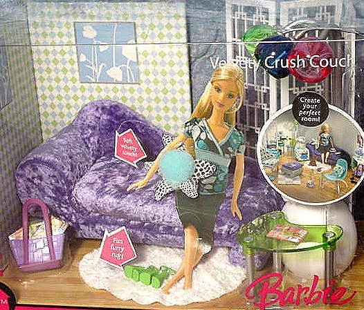 Barbie FASHION FEVER Velvety Crush Couch MIB!!