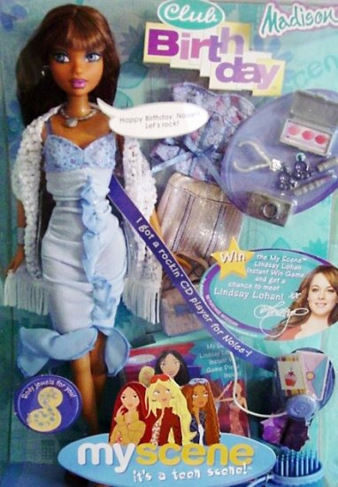 MY SCENE Club Birthday Madison Doll Gift Set NIB!