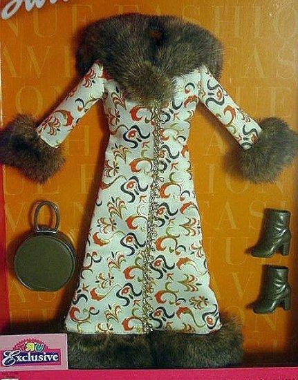 FASHION AVENUE Coat Collection Fur Trimmed Coat