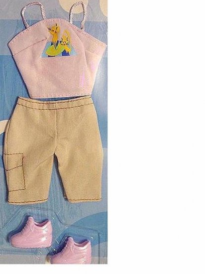 Barbie Doll Clothes Halter Shorts and Tennis Shoes NIP!!