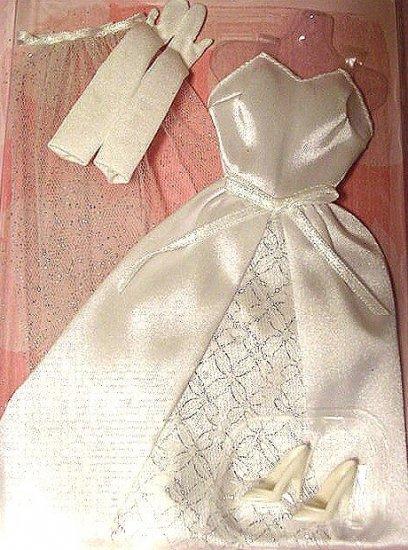 Barbie Doll Wedding Gown Veil Gloves & Shoes NIP!