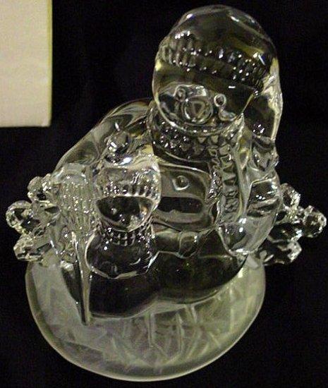 CRYSTAL SNOWMAN FAMILY Figurine Cristal d Arque