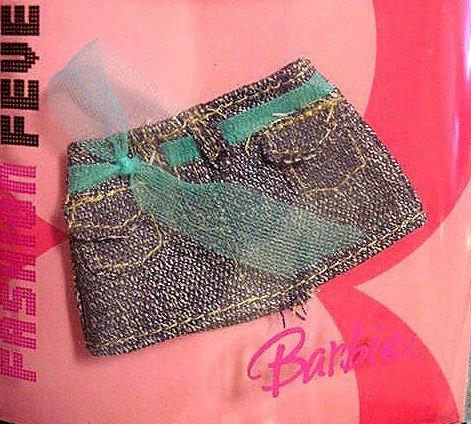 FASHION FEVER Doll Clothes Denim Mini Skirt NIP!