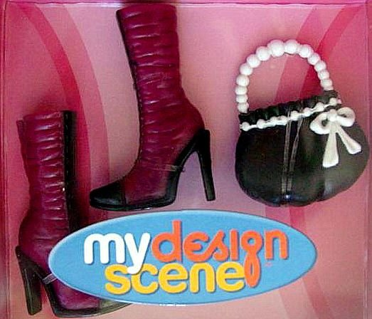 My Scene Barbie Doll Boots and  Purse NIB!