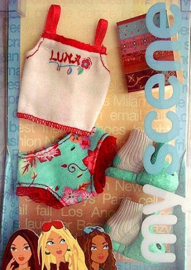 My Scene Barbie Doll Clothes Panties Shirt and Slippers  NIB!