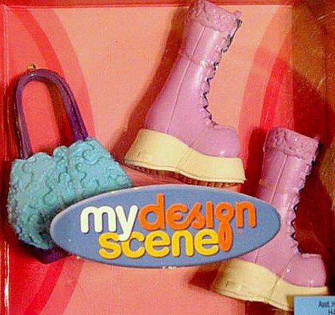 My Scene Barbie Doll Boots and  Purse NIB!
