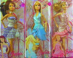 Barbie, Summer and Teresa Set of Three Sparkling Barbie Dolls