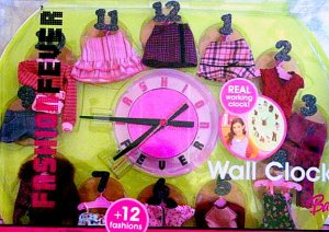 Barbie Wall Clock Fashion Fever  New in Box