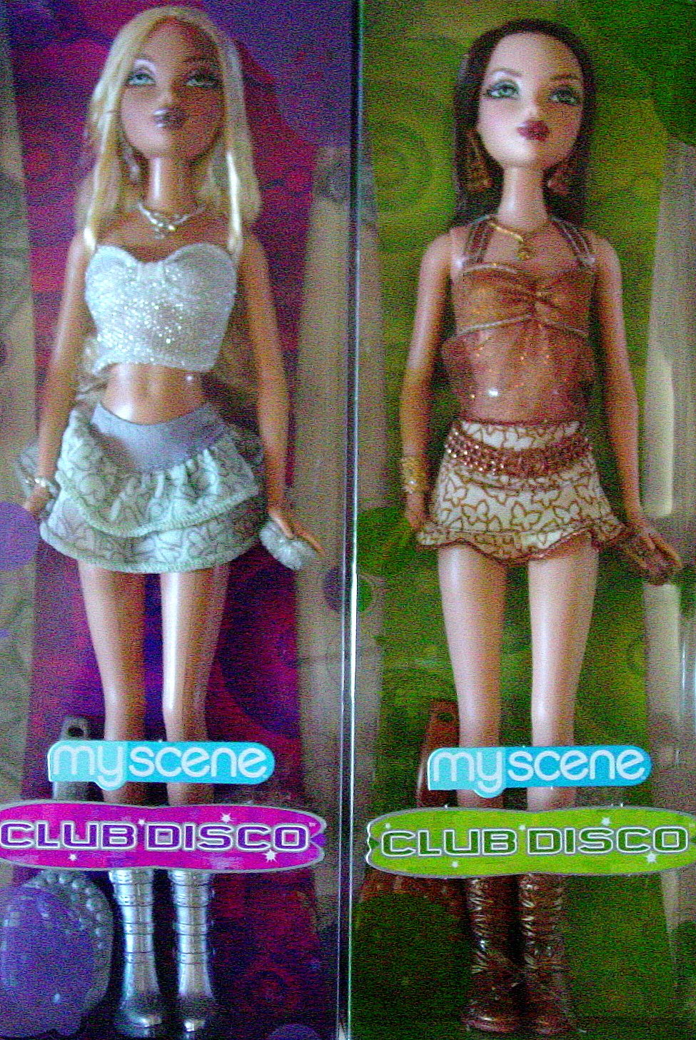 My Scene Club Disco Set Of Two Dolls Nib