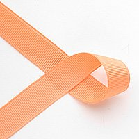 "7/8"" Solid Grosgrain Ribbon - 4-1/2 yards - Apricot"