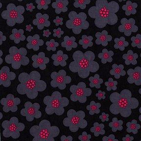 Michael Miller - Flora & Fauna - Black Blossoms - Pattern #: DC4360_Black - 1 yard