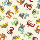 Moda's Erin Michael - 5 Funky Monkeys Counting - Cream - Pattern #26001 - 1 yard