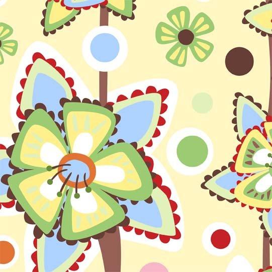 In The Beginning Fabrics'  Wendy Slotboom - Frolic - Pattern #: 1WSA2 - 1 yard