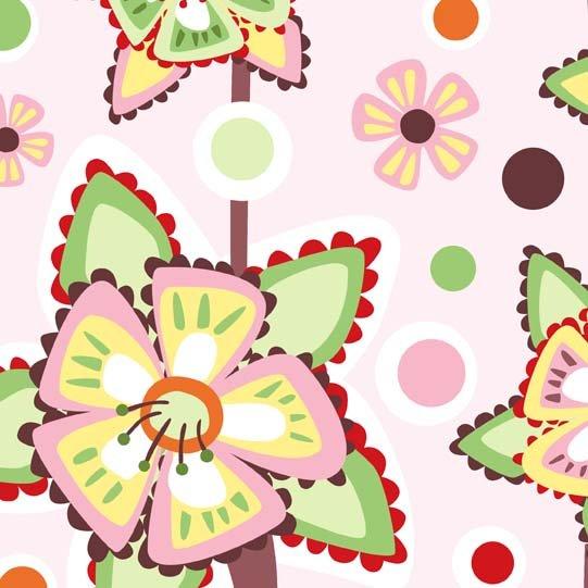 In The Beginning Fabrics'  Wendy Slotboom - Frolic - Pattern #: 1WSA3 - 1 yard