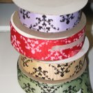 "7/8"" Damask Ribbon for Sale - Printed Grosgrain Ribbon"