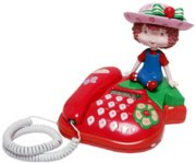 STRAWBERRY SHORTCAKE Corded Telephone with Doll