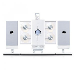 iLuv 4-CD Hi-Fi Audio System with iPod Docking Station - JWin I9200-WHT