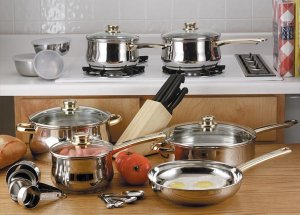 Chefs Secret 31pc Stainless Steel Cookware Set