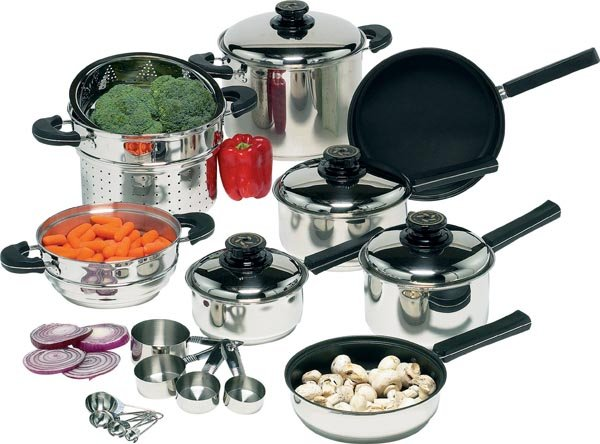 Healthsmart 21pc Stainless Steel Waterless Weight Loss Cookware Set