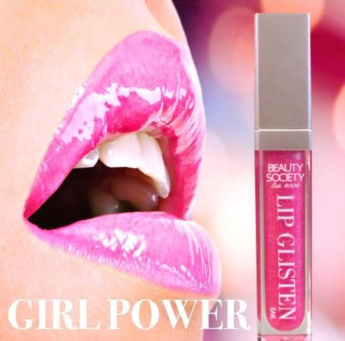 Beauty Society Lip Glisten - Girl Power gorgeous tube with LED applicator and mirror