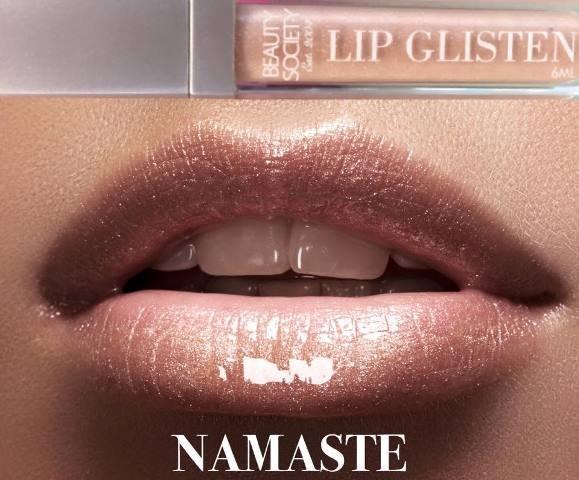 Beauty Society Lip Glisten - Namaste gorgeous tube with LED applicator and mirror