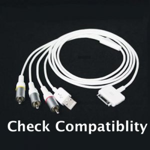 AV Composite Cord For Ipod®, Touch, Nano, iPhone® 2G / 3G + USB Charger