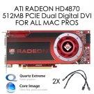 Mac Pro ATI Radeon HD 4870 512MB PCIe DVI Video Graphics Card