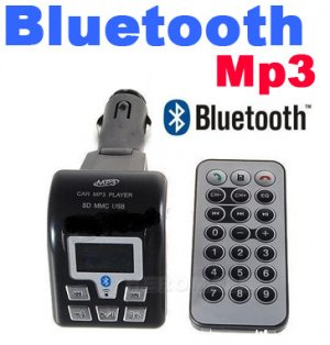 Car Bluetooth FM Transmitter With USB / SD / MMC / Card And Remote