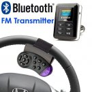 Car Bluetooth FM Transmitter With Steering Wheel Control Adapter And USB / SD / MMC / Card / Remote